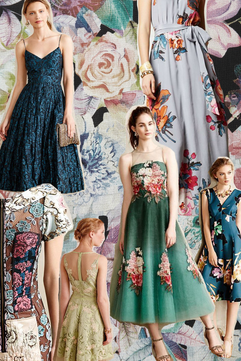 floral dresses from Anthropologie