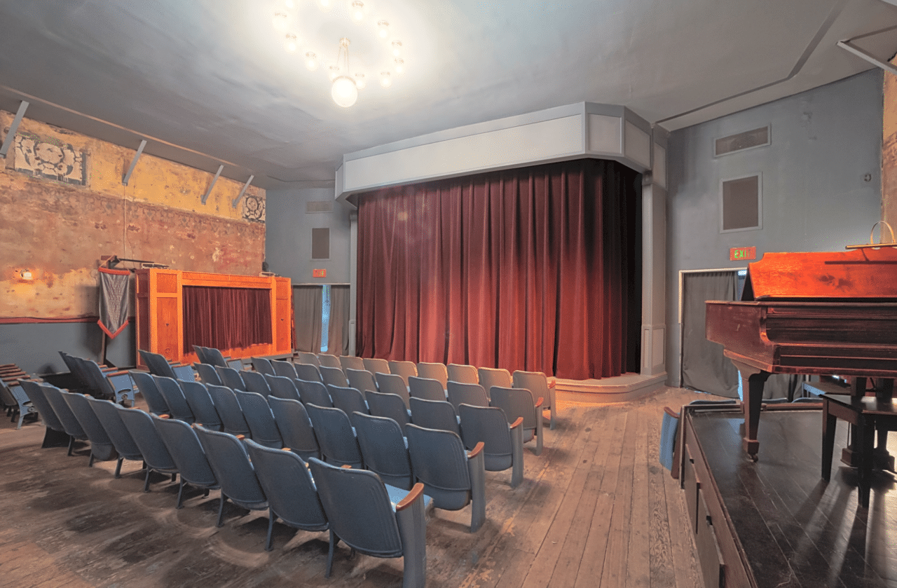 get married on a theater stage
