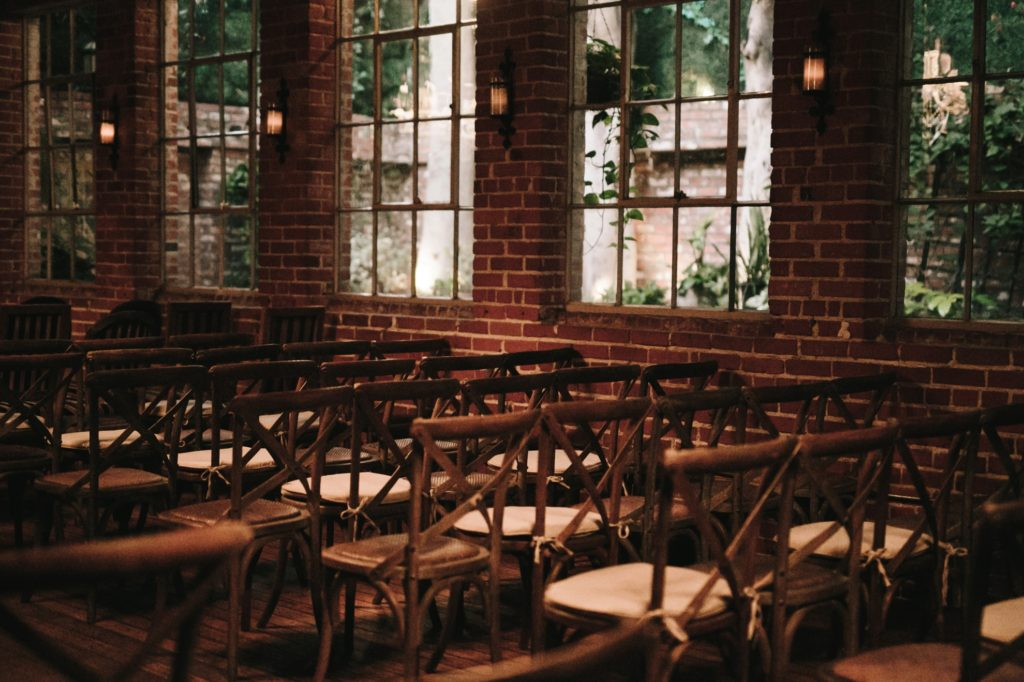 carondelet house wedding winter cozy